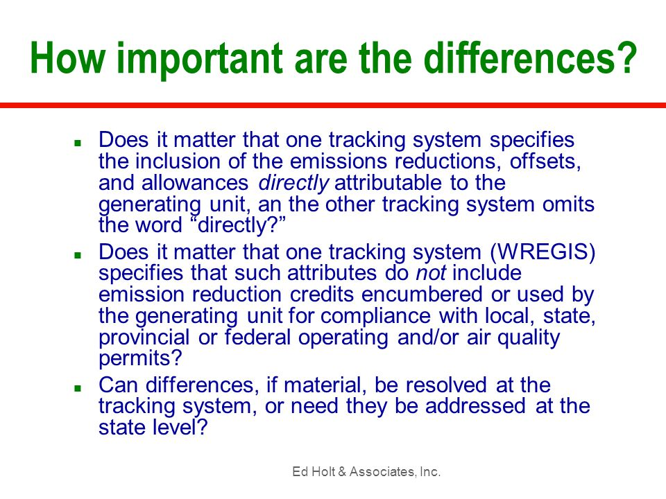 Ed Holt & Associates, Inc.Can tracking systems deliver on definitions.