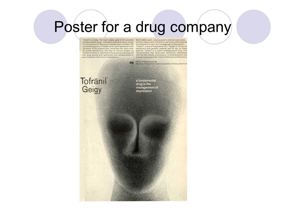 Poster for a drug company