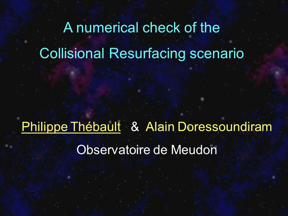 A numerical check of the Collisional Resurfacing scenario Philippe Thébault & Alain Doressoundiram Observatoire de Meudon