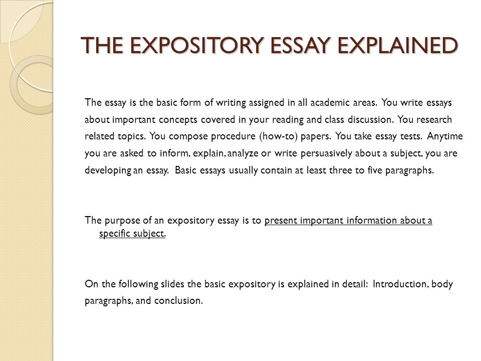 Expository Essay Topic ??