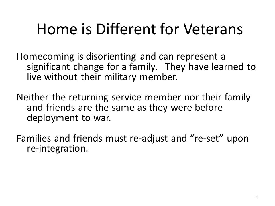Family Challenges Military has high expectations of families both Active duty and Reserve components.