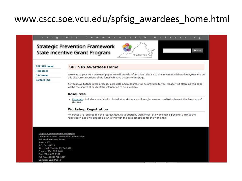 www.cscc.soe.vcu.edu/spfsig_awardees_home.html