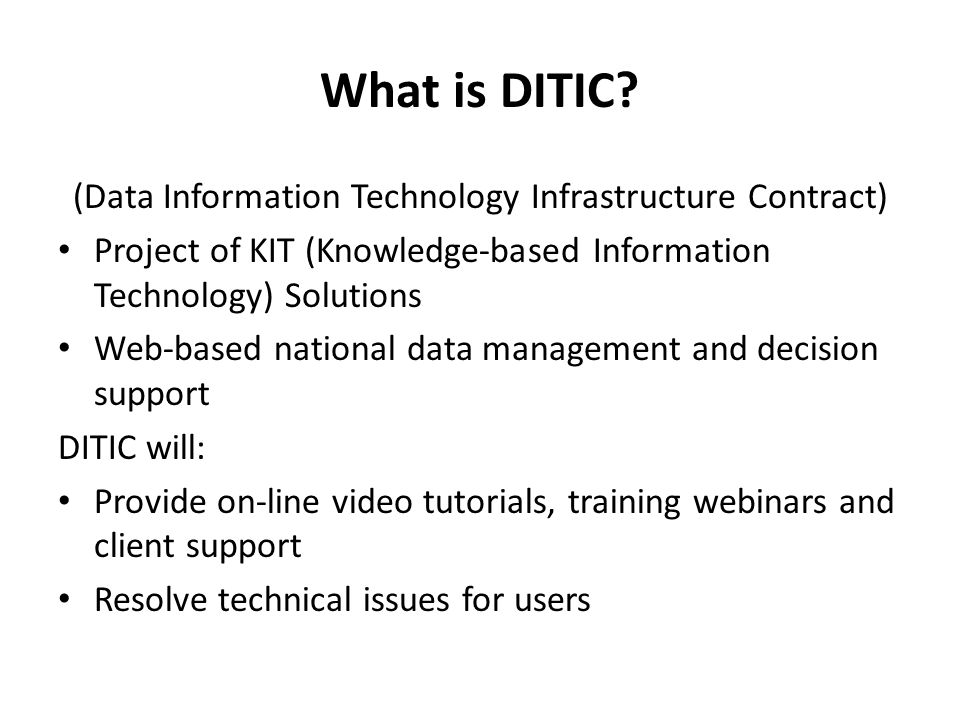 What is DITIC.