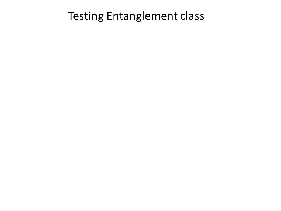 Testing Entanglement class