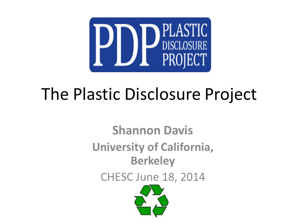 The Commodification of Waste: A Story of Plastic Recycling in Berkeley Society & Environment B.S.