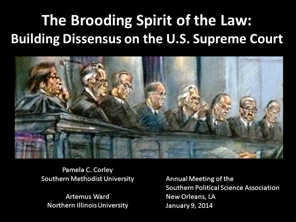 The Brooding Spirit of the Law: Building Dissensus on the U.S.