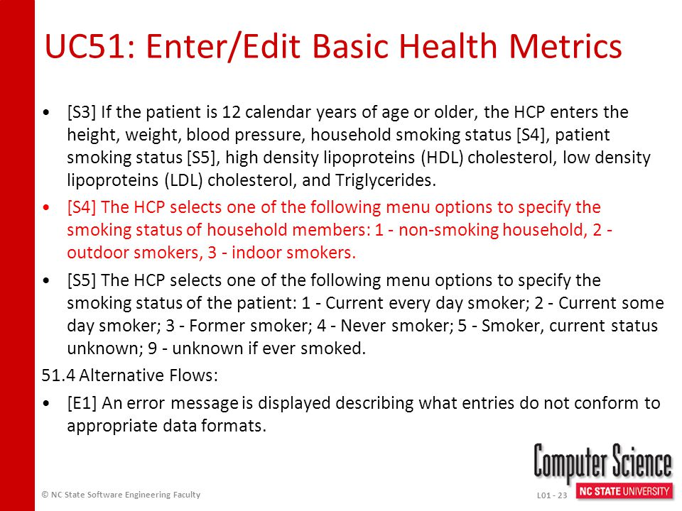 UC51 Enter/Edit Basic Health Metrics 51.1 Preconditions: An HCP is a registered user of the iTrust Medical Records system (UC2).