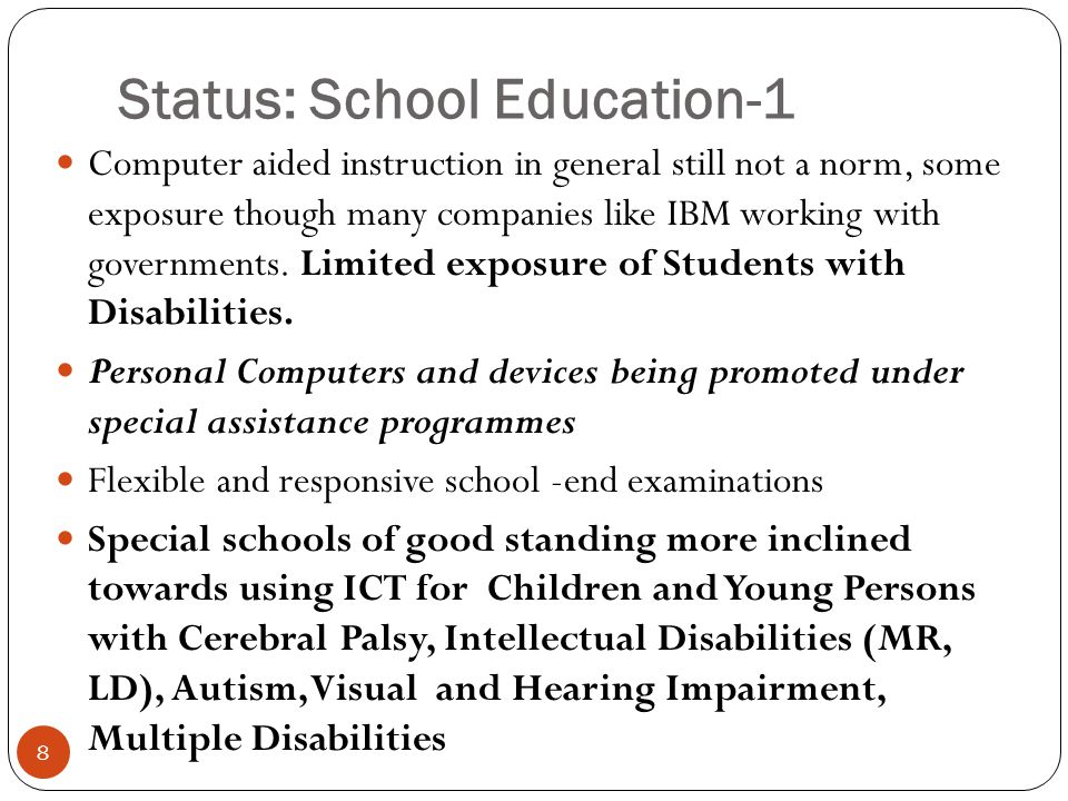 Status: School Education-2 9 National Institute of Open Schooling(NIOS) and State Open Schools do use distance education mode with accredited institutes/schools as contact point through regional centres.