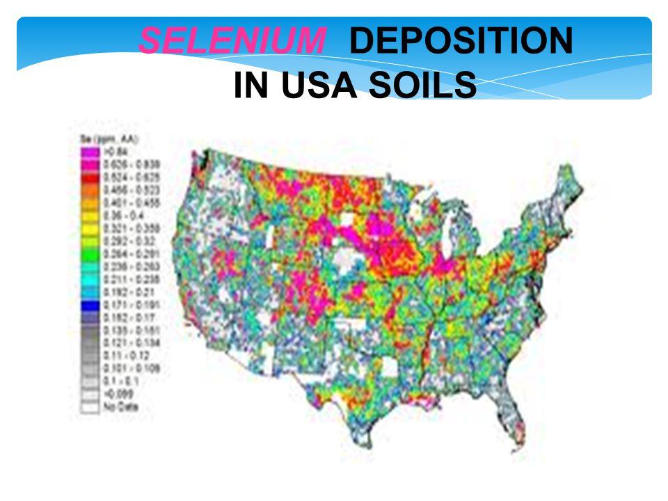 SELENIUM DEPOSITION IN USA SOILS
