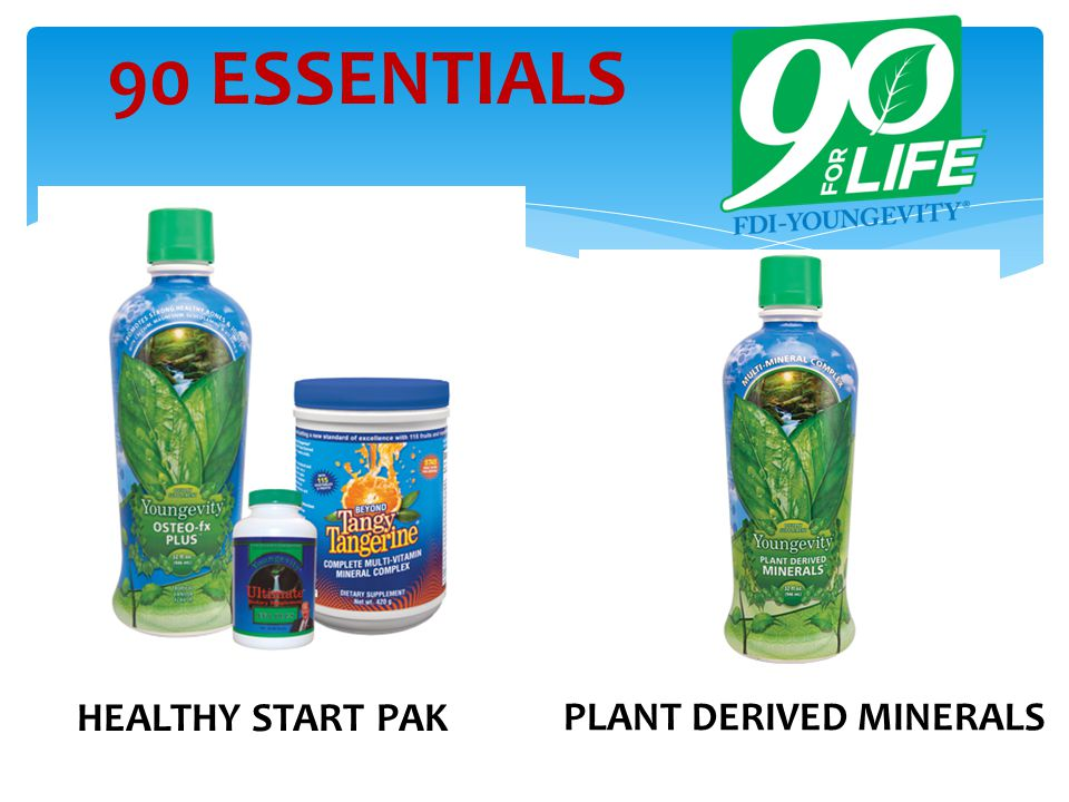 90 ESSENTIALS HEALTHY START PAK PLANT DERIVED MINERALS
