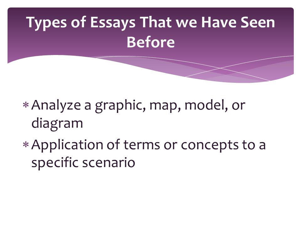 Important note:  These essays are what we refer to as being technical writing .