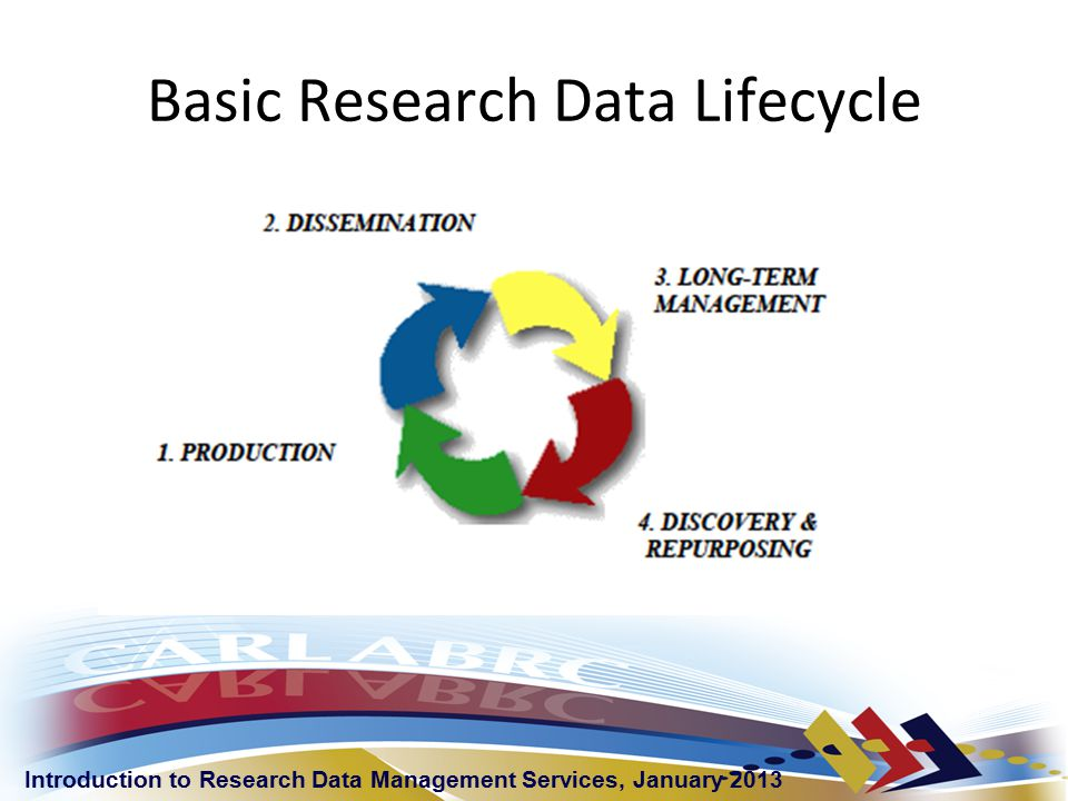 Introduction to Research Data Management Services, January 2013 Policies Ideal State: Canadian organizations have coherent and cohesive policies that govern the management of data across disciplines.