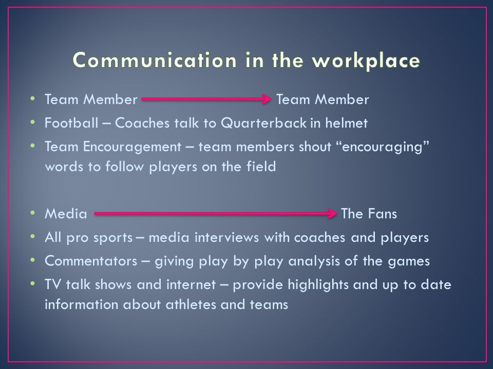 "Team Member Team Member Football – Coaches talk to Quarterback in helmet Team Encouragement – team members shout ""encouraging"" words to follow players"