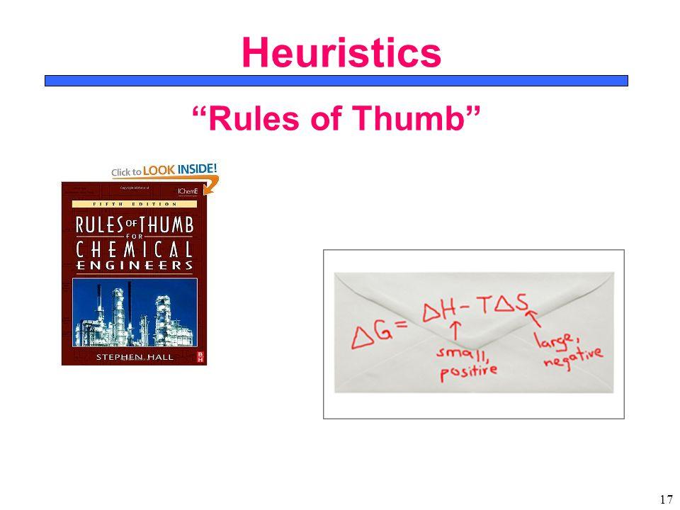 17 Heuristics Rules of Thumb
