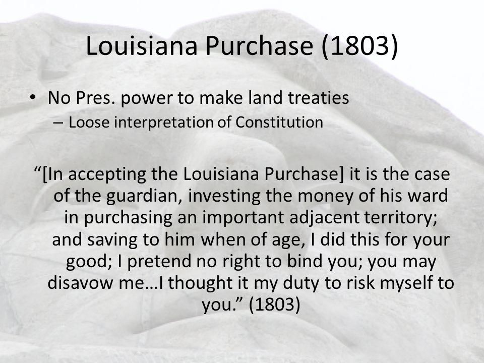 Louisiana Purchase (1803) No Pres.