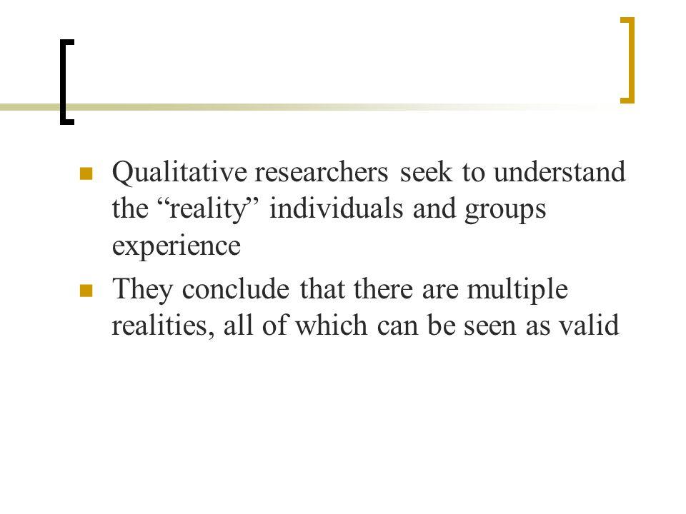 Features of qualitative research all qualitative research exhibits seven basic characteristics.