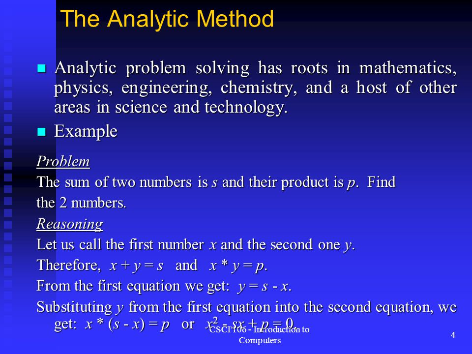 CSCI 106 - Introduction to Computers 15 Software Engineering Goals Reliability Reliability  An unreliable life-critical system can be fatal Understandability Understandability  Future development becomes very difficult if software is hard to understand Cost Effectiveness Cost Effectiveness  Cost to develop and maintain should not exceed profit
