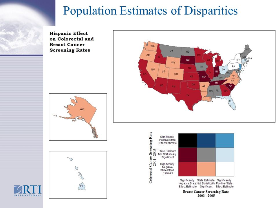 Population Estimates of Disparities 19