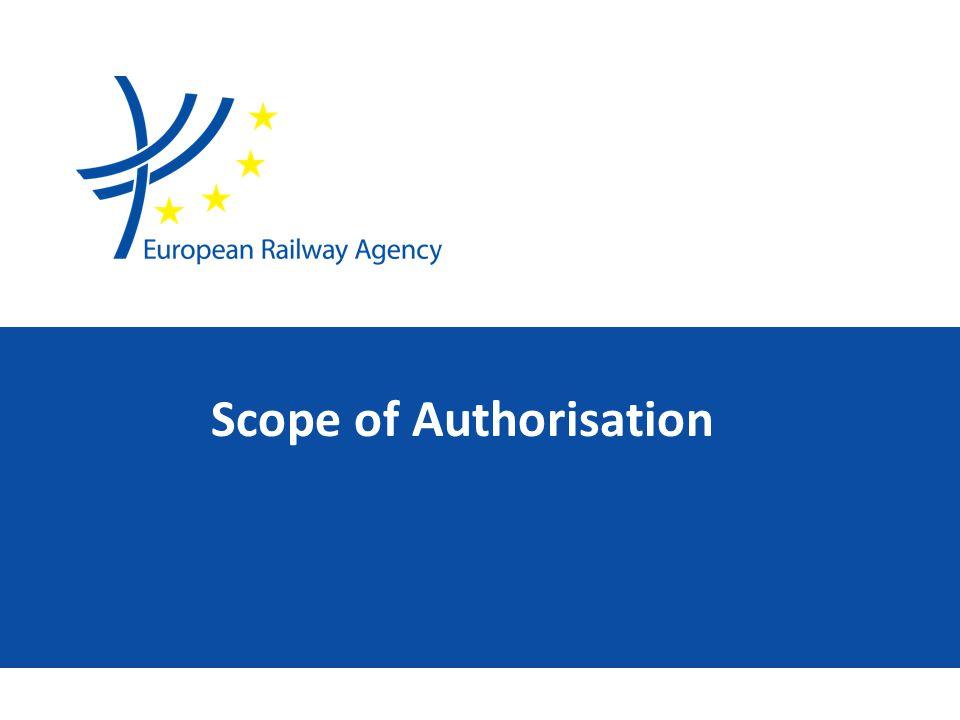 Scope of Authorisation