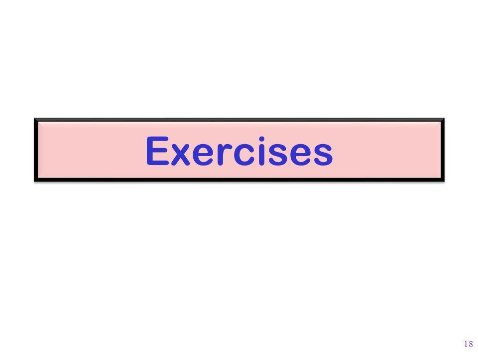 Exercises 18