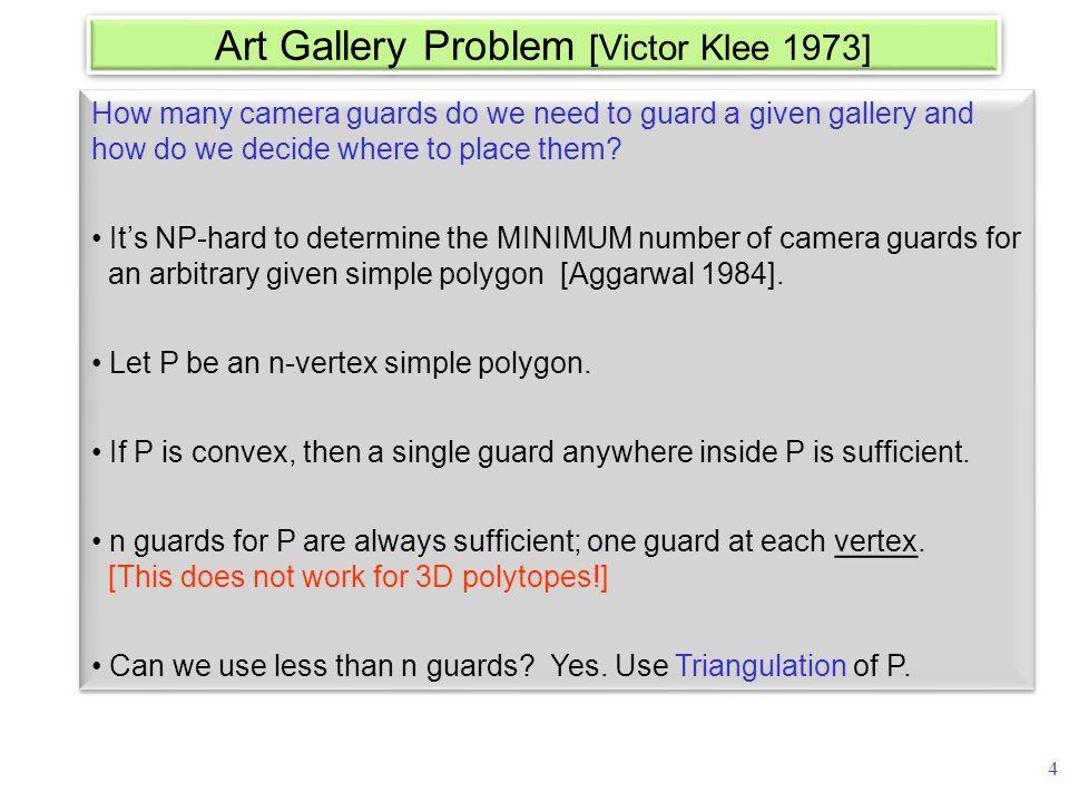Geodesic Shortest Paths inside polygon Single-source shortest paths source 15