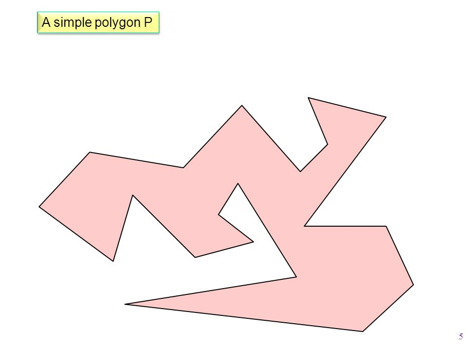 A simple polygon P 5