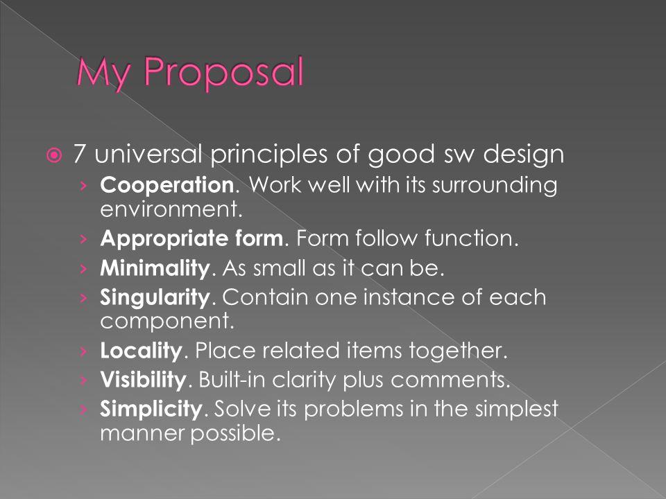  7 universal principles of good sw design › Cooperation.