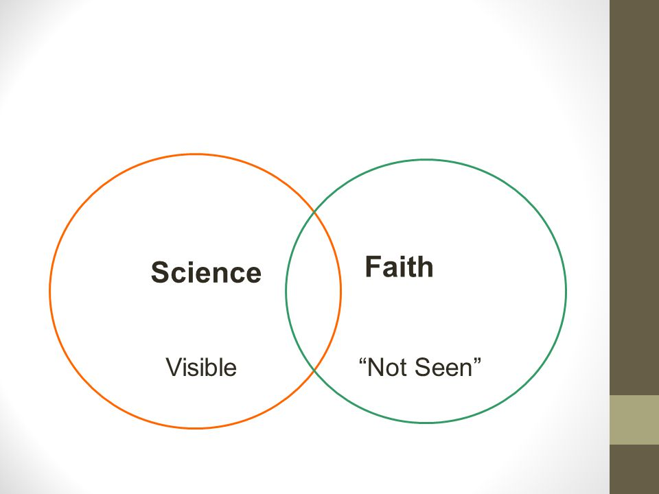 """Faith Science """"Not Seen""""Visible"""