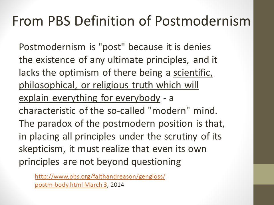 Postmodernism is