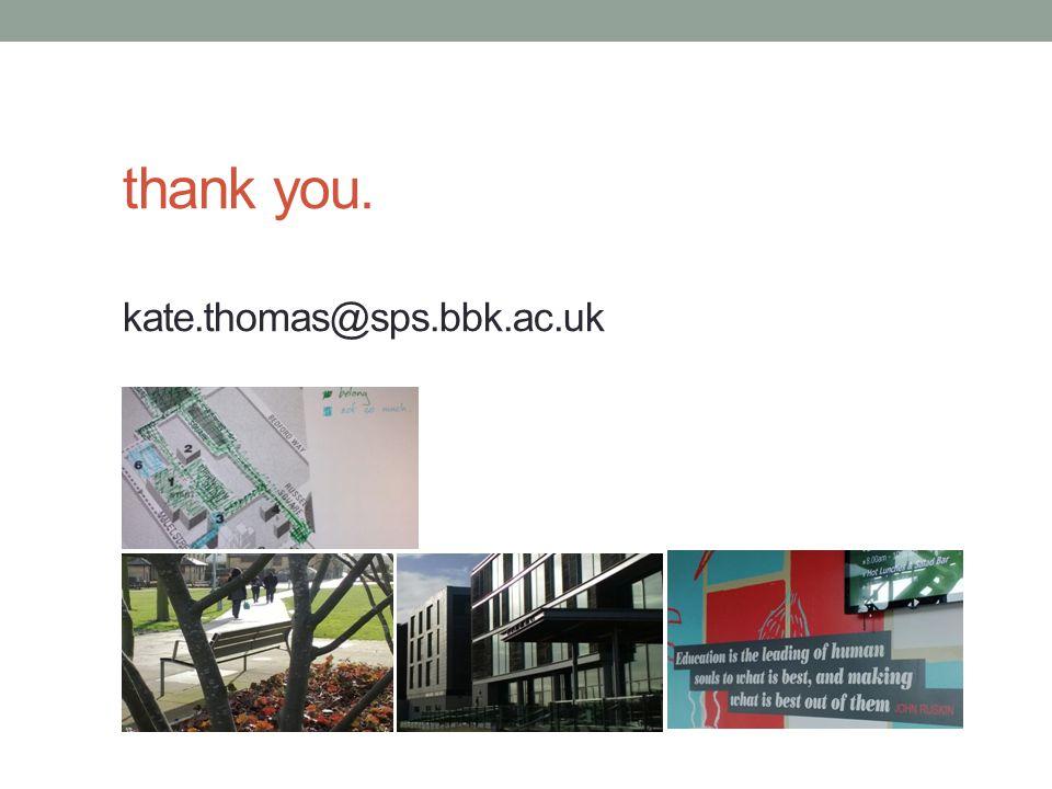 thank you. kate.thomas@sps.bbk.ac.uk