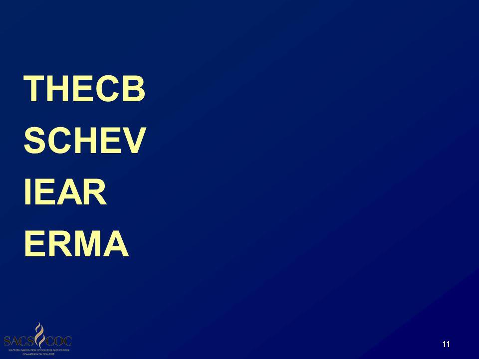 THECB SCHEV IEAR ERMA 11
