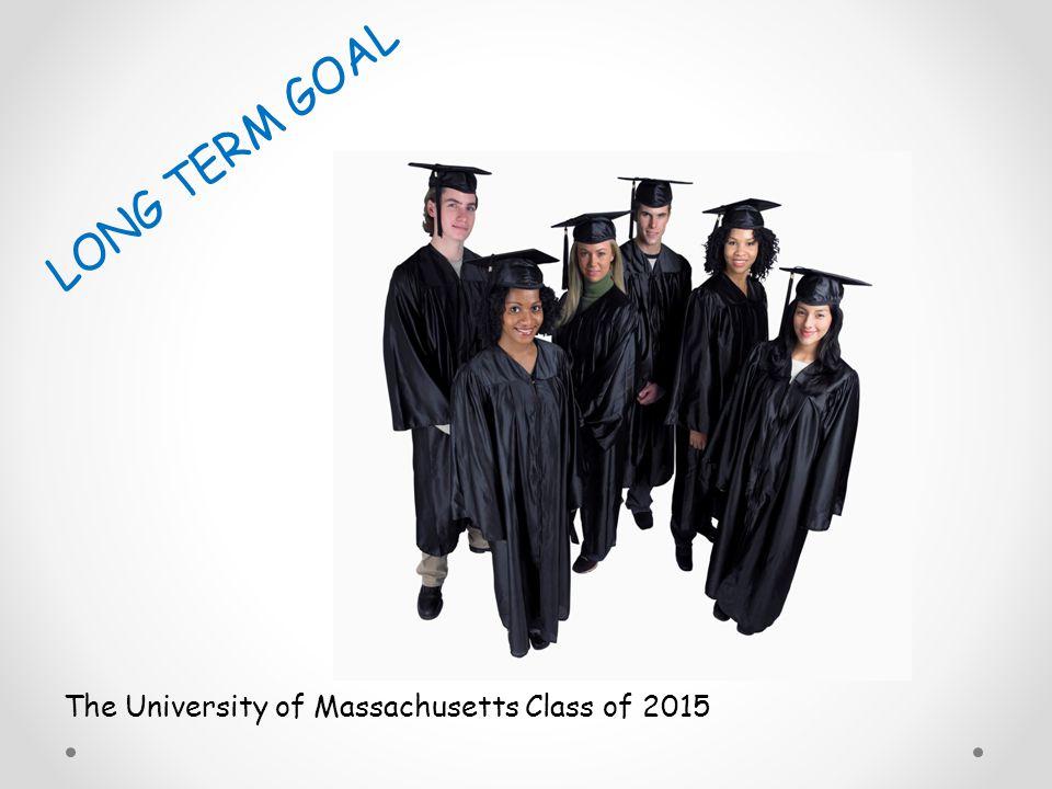 The University of Massachusetts Class of 2015 LONG TERM GOAL