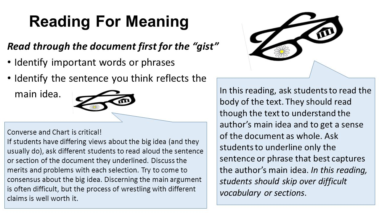 Reading for Argument Is evidence provided for the viewpoint Is proof provided for the evidence.