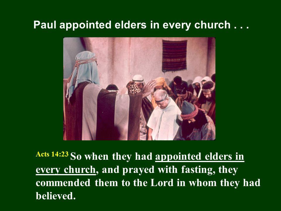 Qualification of Elders 1 Timothy 3:1-7; Titus 1:5-9 1 Tim.