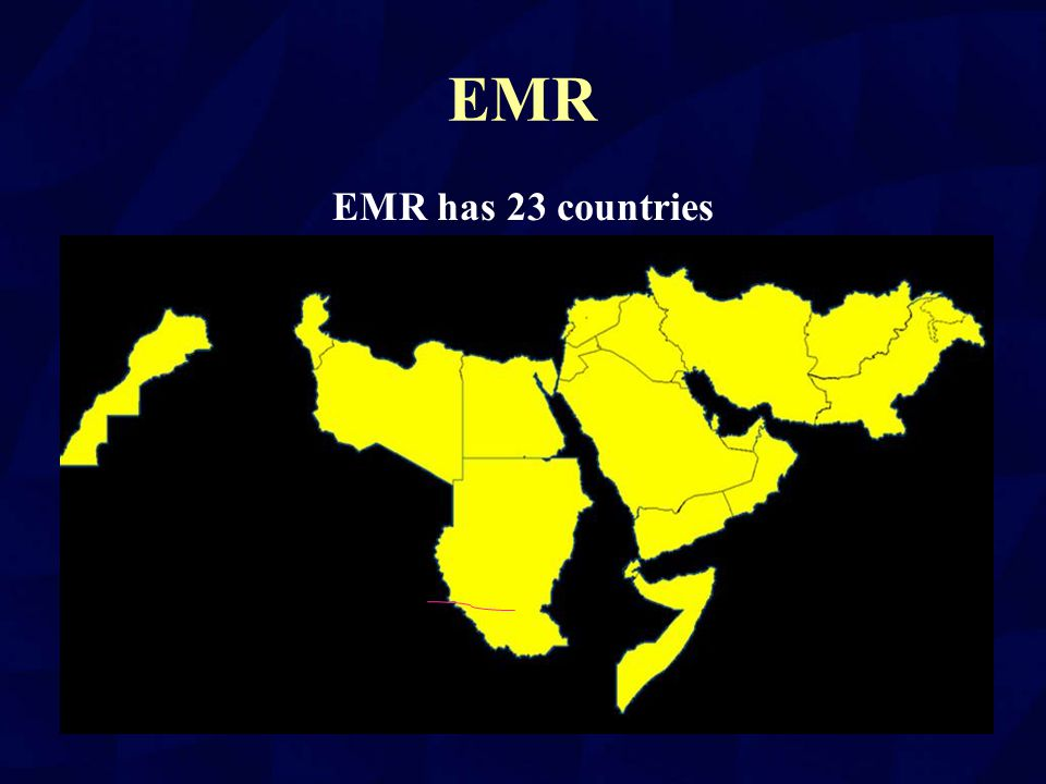 EMR EMR has 23 countries