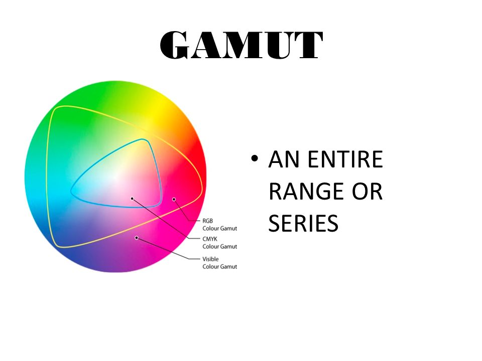 GAMUT AN ENTIRE RANGE OR SERIES