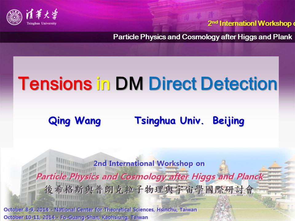 Tensions in DM Direct Detection Qing Wang Tsinghua Univ.