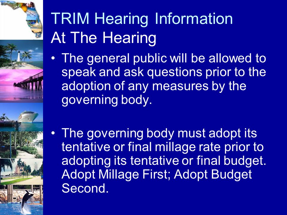 The general public will be allowed to speak and ask questions prior to the adoption of any measures by the governing body. The governing body must ado