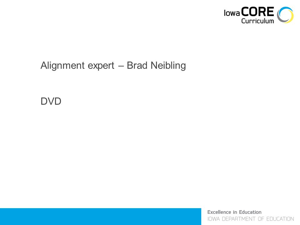 Alignment expert – Brad Neibling DVD
