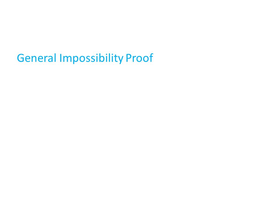 General Impossibility Proof