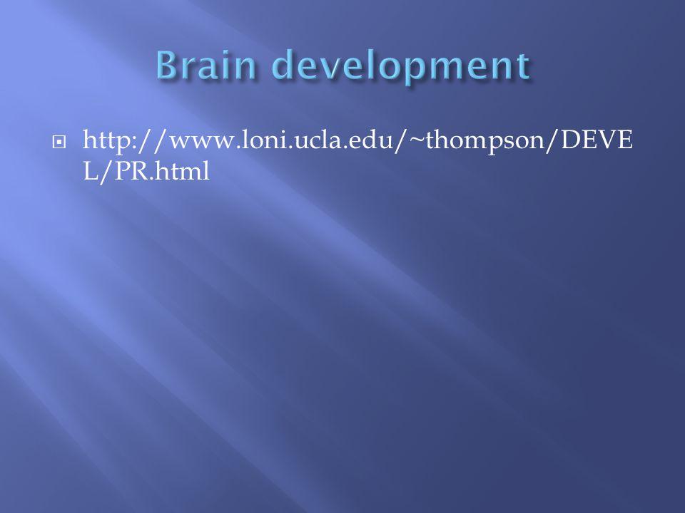  http://www.loni.ucla.edu/~thompson/DEVE L/PR.html