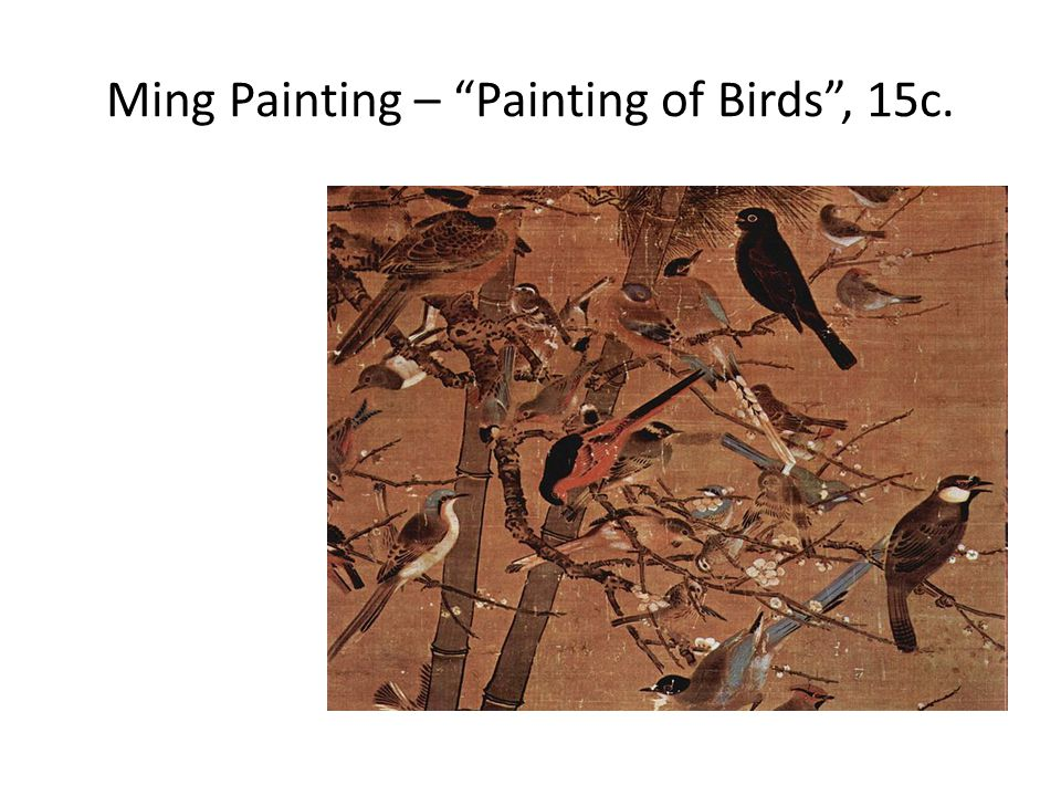 Ming Painting – Painting of Birds , 15c.