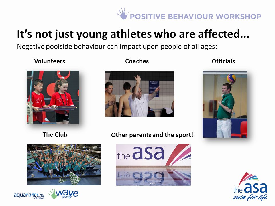 It's not just young athletes who are affected...Other parents and the sport.