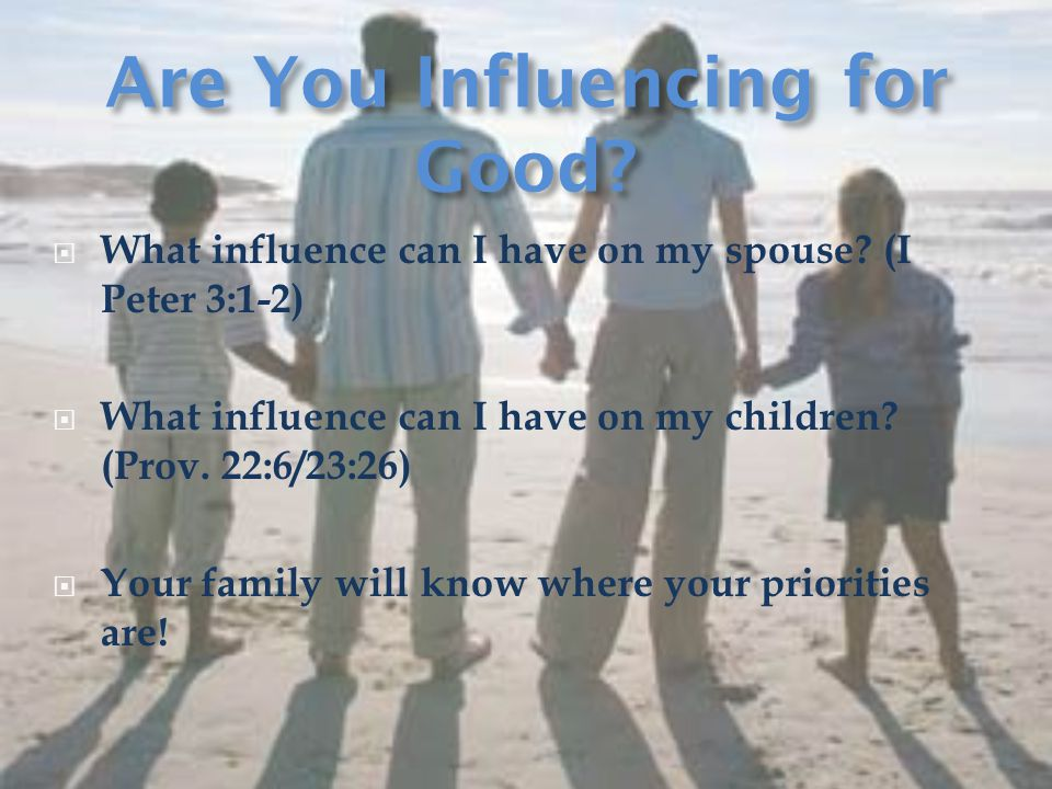  What influence can I have on my spouse.