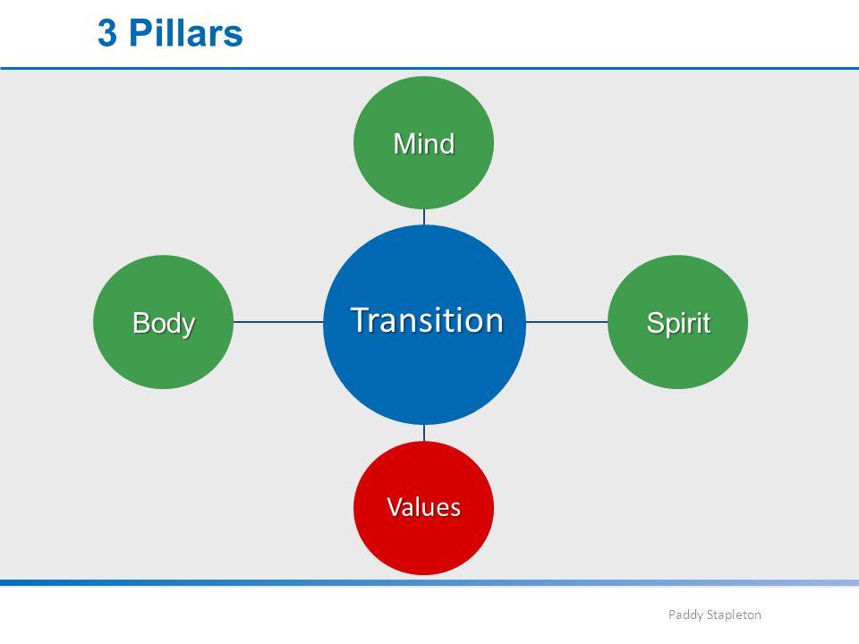 Paddy Stapleton Mind SpiritBody Transition Values 3 Pillars