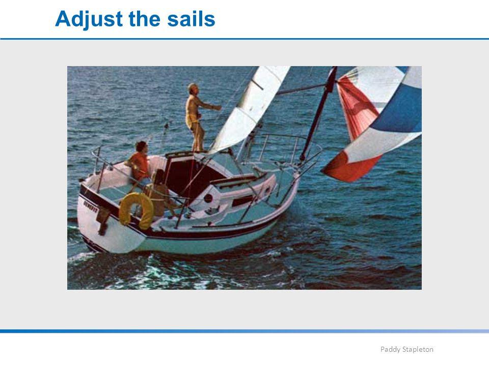 Paddy Stapleton Adjust the sails