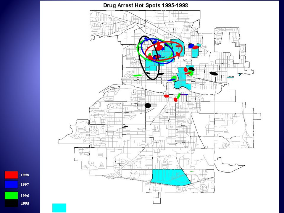 1998 1997 1996 1995 Block Groups with > 13% Abandoned Buildings