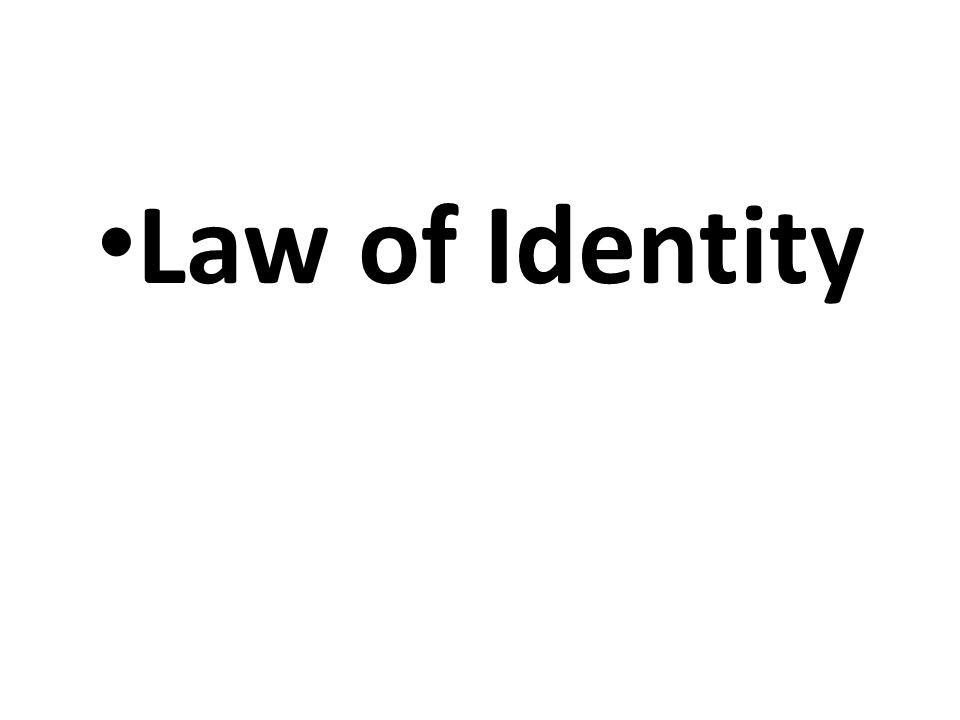 Law of Identity