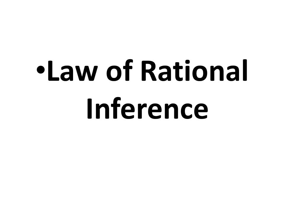 Law of Rational Inference