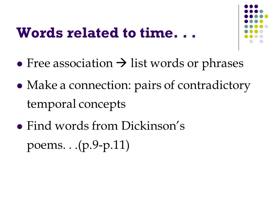Words related to time...